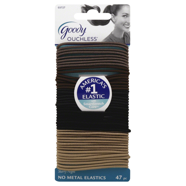 Goody Products Inc. Ouchless Thin Starry Nights Elastics, 47 CT