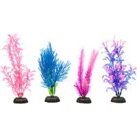 Petco Colorful Plastic Aquarium Plants Foreground Value Pack