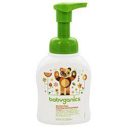 BabyGanics Alchohol Free Foaming Hand Sanitizer, Tangerine 8.45oz