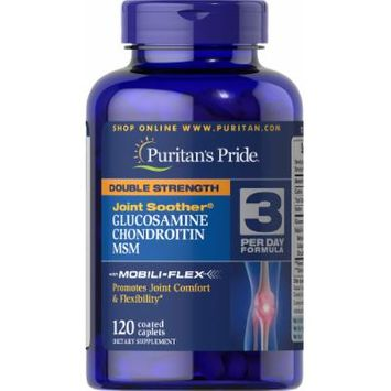 Puritan's Pride Double Strength Glucosamine, Chondroitin & MSM Joint Soother-120 Caplets