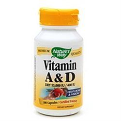 tures Way Nature's Way Vitamin A & D 100 capsules