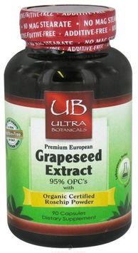 Ultra Botanicals - Premium European Grapeseed Extract 100 mg. - 90 Capsules