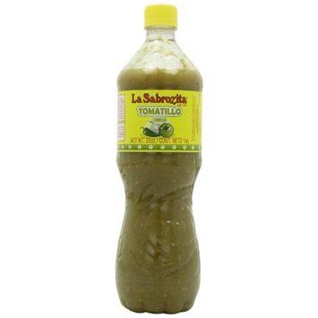 La Sabrozita Homestyle Tomatillo Salsa (Salsa Verde), 35-Ounce Bottles (Pack of 4)