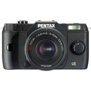 Pentax Q7 Compact Mirrorless Camera with 5-15mm f-2.8-4.5 Zoom Lens, Black