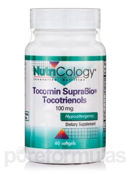 Nutricology/allergy Research Tocomin SupraBio Tocotrienols 100 mg, 60 Softgels, NutriCology