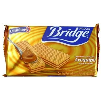 Colombina GALLETAS WAFER AREQUIPE CHOCOLATE 176 GRS MILK CARAMEL WAFER BRIDGE COOKIE 6.2 OZ