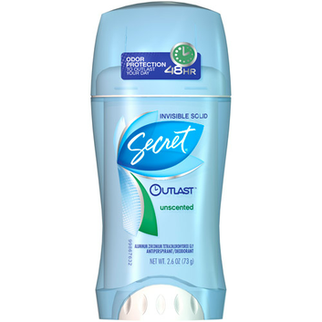 Secret® Outlast Unscented Invisible Solid Deodorant