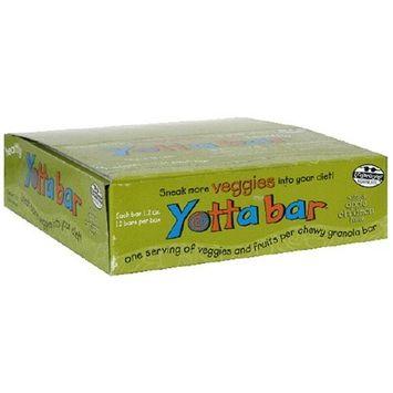 Yotta Bar Chewy Granola Bar with 9 Hidden Veggies, Natural Apple Cinnamon, 1.2 Ounce Bar (Pack of 12)