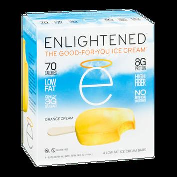 Enlightened The Good-For-You Ice Cream Low Fat Ice Cream Bars Orange Cream - 4 CT