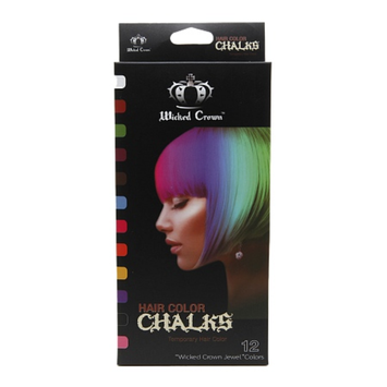 Wicked Crown Hair Color Chalks Temporary Hair Color 12 Piece Set, 1 set