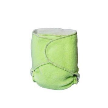 Kissaluvs Cotton Fleece Hybrid One Size Contour Diaper, Green