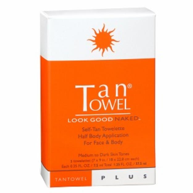 Tan Towel Classic Full Body 5 Pack - NIB AUTHENTIC - Self