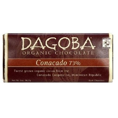 Dagoba Conocado (73%) Ftc Single Organic Dominican Bar, 2.0-Ounce Bars (Pack of 12)