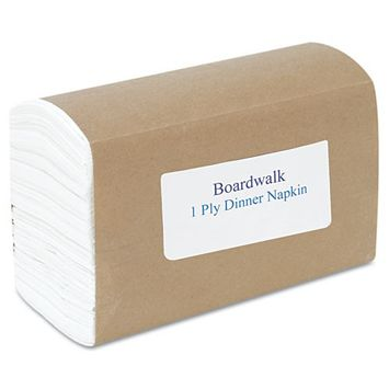 Boardwalk Napkins, White, Ply, 12 Packs of 250