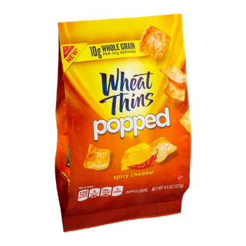Nabisco Wheat Thin Popped Chips Spicy Cheddar