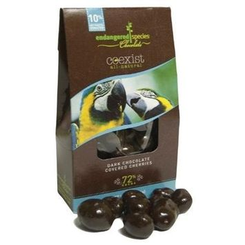 Endangered Species, Choc Cexst Crvd Drk Chry Mccaw, 3 OZ (Pack of 6)