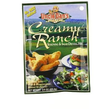 Uncle Dan's Uncle Dans Creamy Ranch With Milk Dressing, 0.7500-Ounce (Pack of 8)