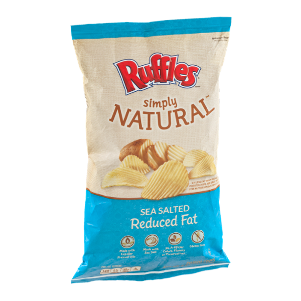 Ruffles® Simply Natural Sea Salted Reduced Fat Potato Chips