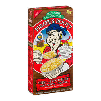 Pirate's Booty Shells & Cheese Aged White Cheddar