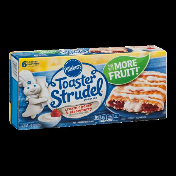 Pillsbury Toaster Strudel Pastries Cream Cheese & Strawberry - 6 CT