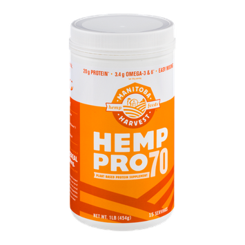 Manitoba Harvest Hemp Pro 70 Plant Based Protein Supplement