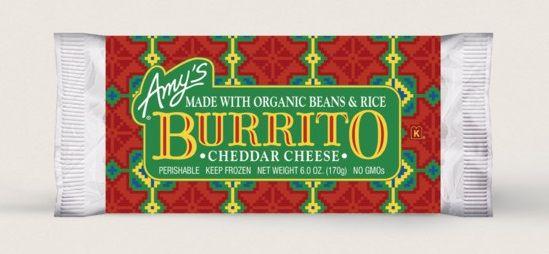Amy's Kitchen Cheddar Cheese, Bean & Rice Burrito