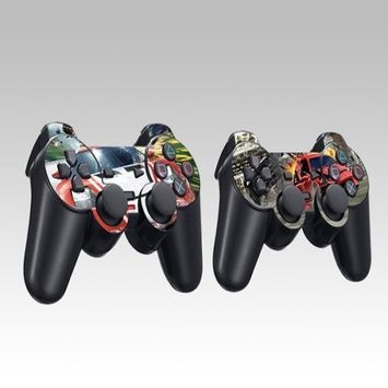 Pacers RAC-RED Design Skin Decal Sticker for the PS2 (Playstation 2) Controller (2pcs in 1)