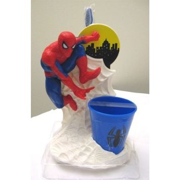 Mzb Accessories Spiderman Toothbrush and Cup Holder Set for Kids