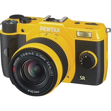 Pentax Q7 Compact Mirrorless Camera with 5-15mm f-2.8-4.5 Zoom Lens, Yellow 1155