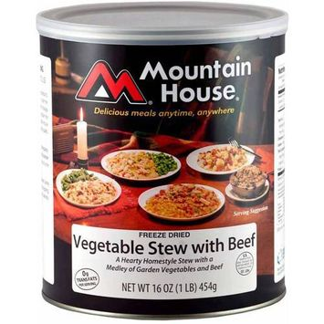 Mountain House Vegetable Stew With Real Beef Can