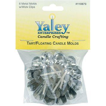 Yaley Metal Tart/Floating Candle Molds, 6/pkg, 2-1/4