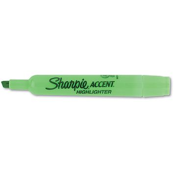 Sanford Ink Corporation SAN25026 Major Accent Highlighter- Chisel Point- Fluorescent Green