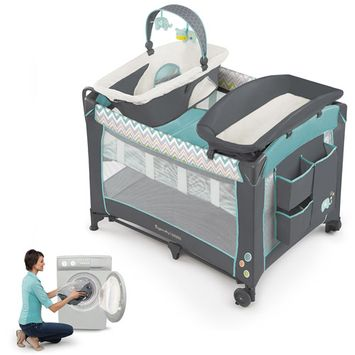 InGenuity Smart & Simple Avondale Playard (Blue/Gray/White)