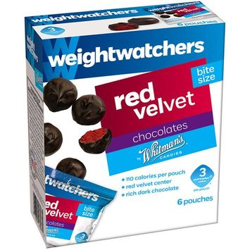 Whitman's Weight Watchers Red Velvet Bite Size Chocolates, 0.875 oz, 6 count
