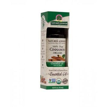 Nature's Answer - Organic Essential Oil 100 Pure Cinnamon - 0.5 oz.