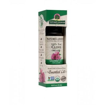 Nature's Answer - Organic Essential Oil 100 Pure Clove - 0.5 oz.