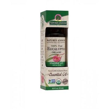 Nature's Answer - Organic Essential Oil 100 Pure Eucalyptus - 0.5 oz.