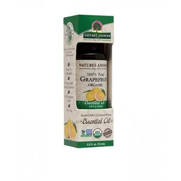 Nature's Answer - Organic Essential Oil 100 Pure Grapefruit - 0.5 oz.