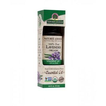 Nature's Answer - Organic Essential Oil 100 Pure Lavender - 0.5 oz.