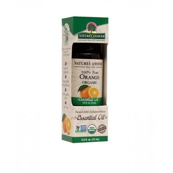 Nature's Answer - Organic Essential Oil 100 Pure Orange - 0.5 oz.