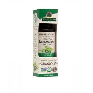 Nature's Answer - Organic Essential Oil 100 Pure Lemongrass - 0.5 oz.