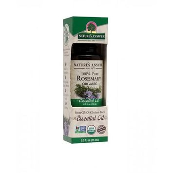 Nature's Answer - Organic Essential Oil 100 Pure Rosemary - 0.5 oz.