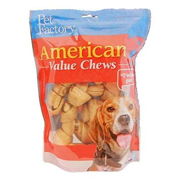 Pet Factory 28171 American Value Chews Chicken Flavored Bones 4-5 8 Pack PF28171