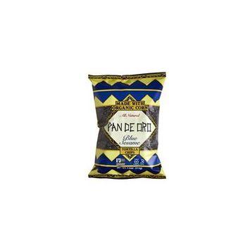 Pan De Oro Blue Sesame Tortilla Chips Case of 12 bags 7.5 oz per bag