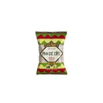 Pan De Oro White Corn Tortilla Chips Case of 12 bags 7.5 oz per bag