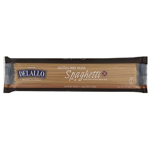 DeLallo Spaghetti Gluten Free Pasta Made with Whole Grain Rice, 12 oz, (Pack of 12)