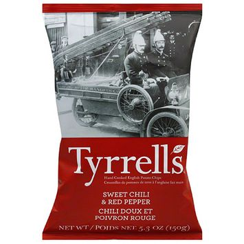 Twang Tyrrell's Sweet Chili & Red Pepper Hand Cooked English Potato Chips, 5.3 oz, (Pack of 12)