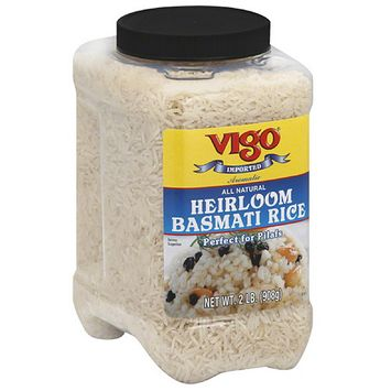 Vigo Heirloom Basmati Rice, 2 lbs, (Pack of 4)