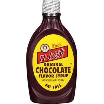 Fox's U-Bet Original Chocolate Flavor Syrup, 22 oz (Pack of, 12)