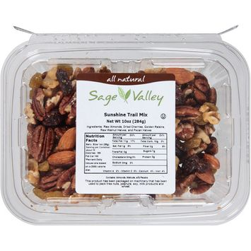Sage Valley All Natural Sunshine Trail Mix, 10 oz, (Pack of 6)